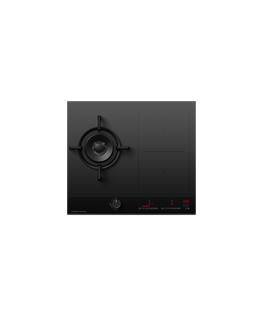 Gas + Induction Cooktop, 60cm, 1 Burner, 2 Zones with SmartZone
