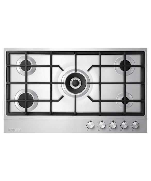 "Gas on Steel Cooktop, 36"", LPG, pdp"