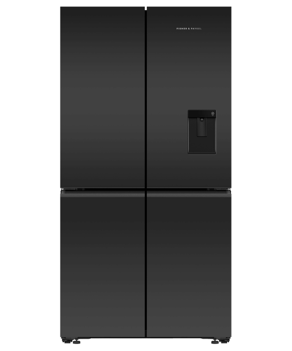 Freestanding Quad Door Refrigerator Freeze, 90.5cm, 538L, Ice & Water, pdp