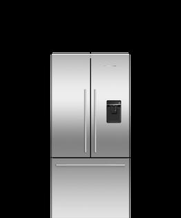 Freestanding French Door Refrigerator Freezer, 79cm, 487L, Ice & Water