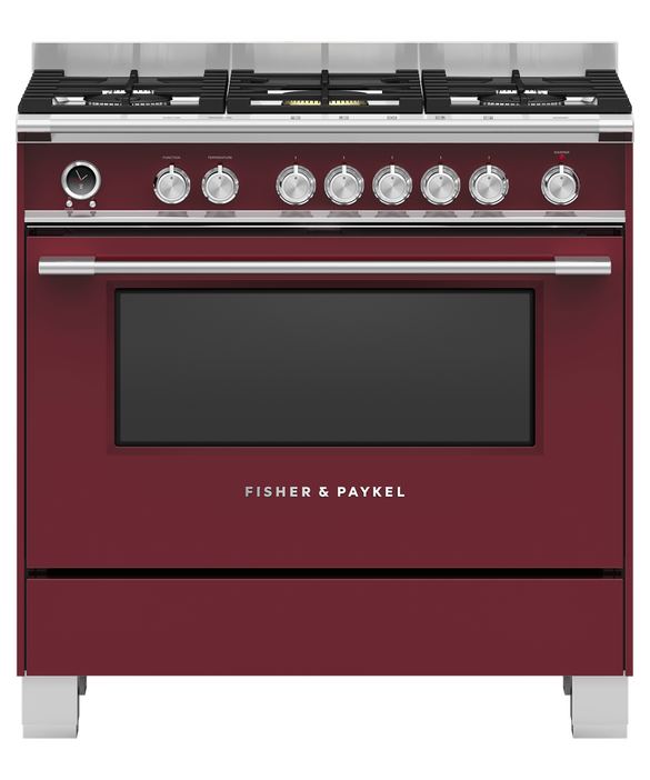 Freestanding Cooker, Dual Fuel, 90cm, 5 Burners, Self-cleaning, pdp