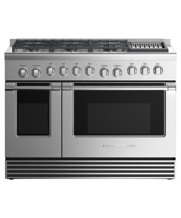 """Dual Fuel Range, 48"""", 6 Burners with Grill, LPG, pdp"""