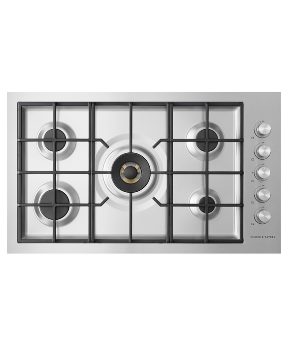 """Gas on Steel Cooktop, 36"""", Flush Fit, LPG, pdp"""