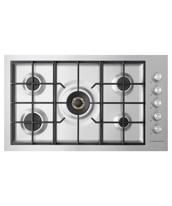 "Gas on Steel Cooktop, 36"", Flush Fit, LPG, pdp"