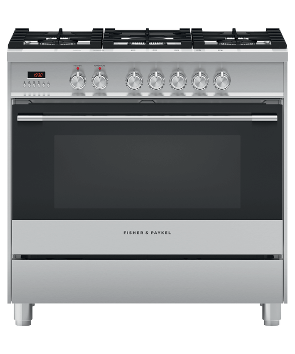 Freestanding Cooker, Dual Fuel, 90cm, 5 Burners, pdp