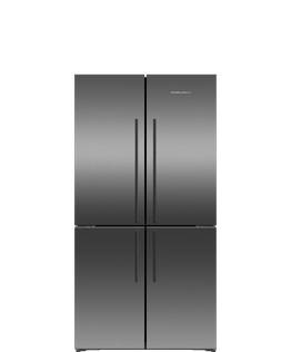 Freestanding Quad Door Refrigerator Freezer, 90.5cm, 605L