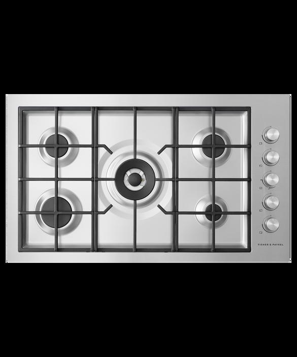 Gas on Steel Cooktop, 90cm, Flush Fit, LPG, pdp