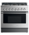 "Dual Fuel Range, 36"", 6 Burners, LPG gallery image 1.0"