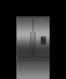 Freestanding French Door Refrigerator Freezer, 90cm, 569L, Ice & Water