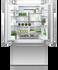 Integrated French Door Refrigerator Freezer, 90cm, Ice & Water gallery image 2.0