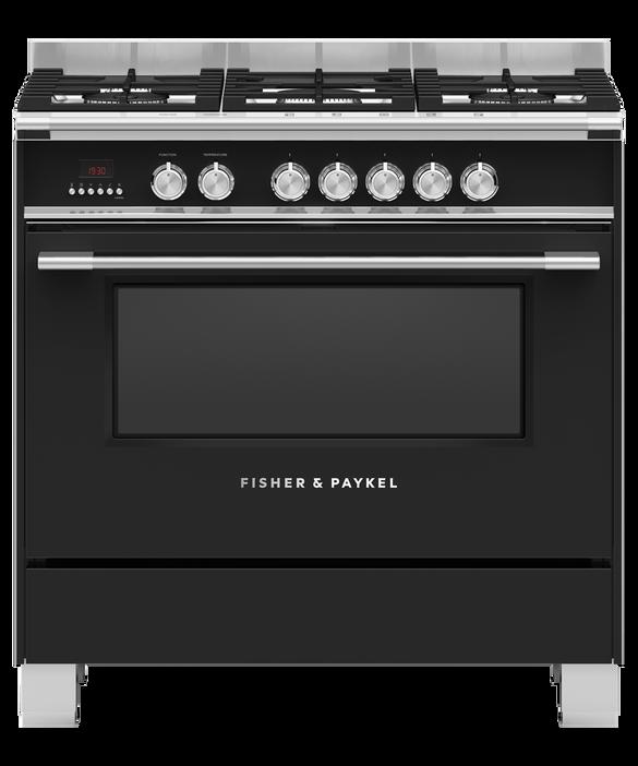 Freestanding Cooker, Dual Fuel, 90cm, 5 Burners, pdp