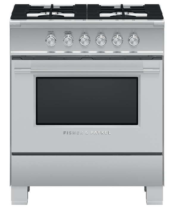 "Gas Range, 30"", 4 Burners, pdp"