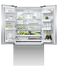 Freestanding French Door Refrigerator Freezer, 90cm, 614L, Ice & Water gallery image 2.0