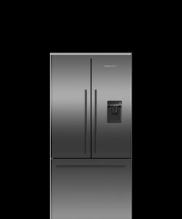 Freestanding French Door Refrigerator Freezer, 79cm, 519L, Ice & Water