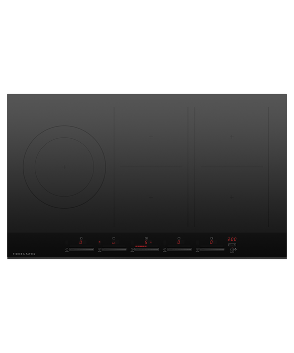 "Induction Cooktop, 36"", 5 Zones, with SmartZone, pdp"