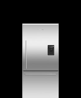 Freestanding Refrigerator Freezer, 79cm, 445L, Ice & Water