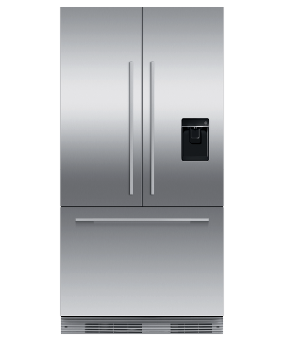 Integrated French Door Refrigerator Freezer, 90cm, Ice & Water, pdp