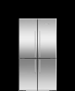 Freestanding Quad Door Refrigerator Freezer , 90.5cm, 605L