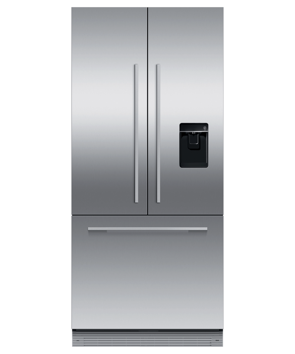 Integrated French Door Refrigerator Freezer, 80cm, Ice & Water, pdp