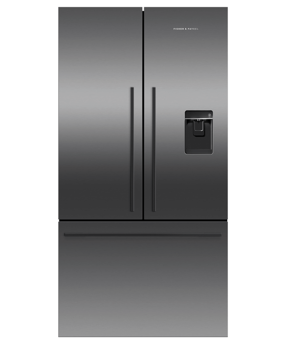 Freestanding French Door Refrigerator Freezer, 90cm, 614L, Ice & Water, pdp