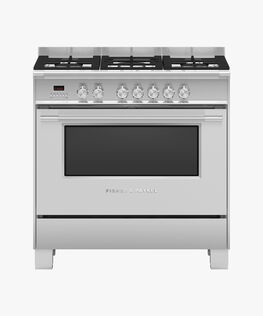 Freestanding Cooker, Dual Fuel, 90cm, 5 Burners