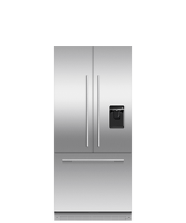 Integrated French Door Refrigerator Freezer, 80cm, Ice & Water