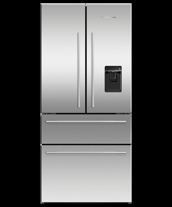 Freestanding French Door Refrigerator Freezer, 79cm, 436L, Ice & Water, pdp