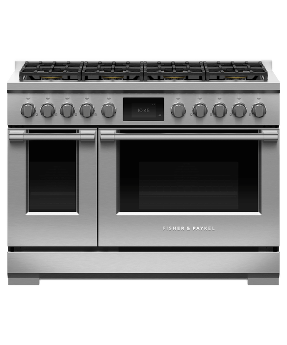 "Dual Fuel Range, 48"", 8 Burners, Self-cleaning, LPG, pdp"