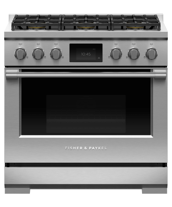 "Dual Fuel Range, 36"", 6 Burners, Self-cleaning, pdp"
