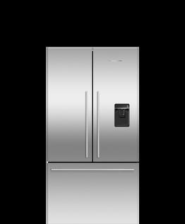 Freestanding French Door Refrigerator Freezer, 90cm, 541L, Ice & Water