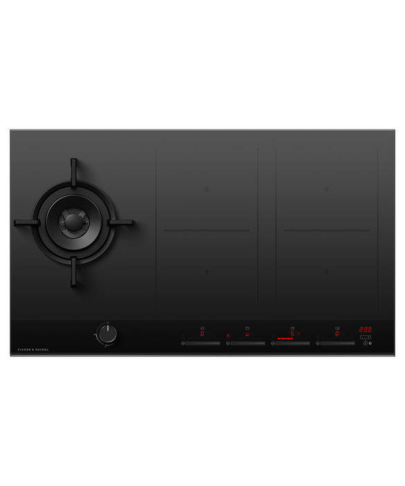 Gas + Induction Cooktop, 90cm, 1 Burner, 4 Zones with SmartZone, pdp