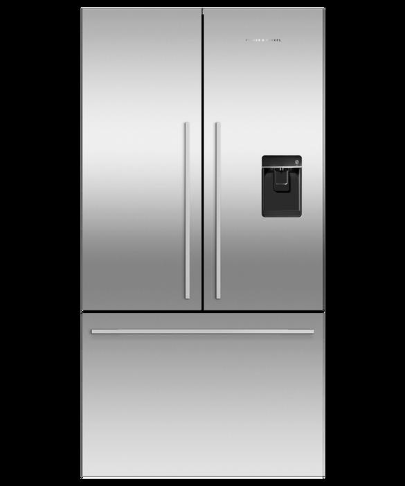 Freestanding French Door Refrigerator Freezer, 90cm, 541L, Ice & Water, pdp