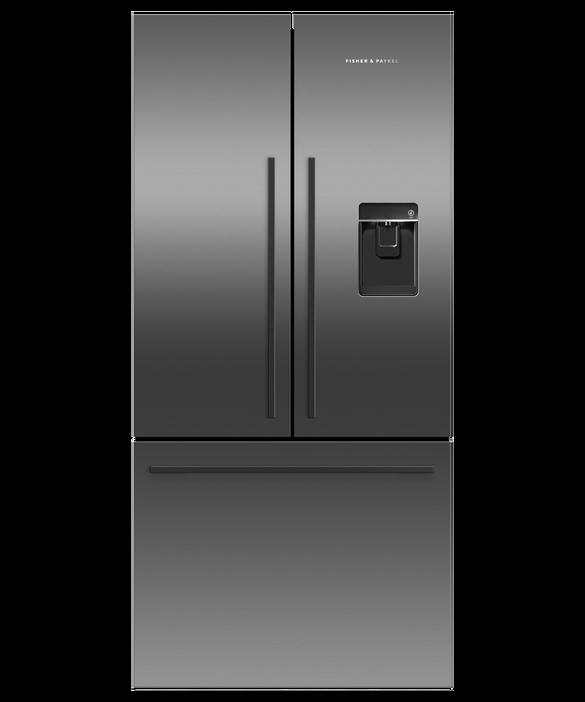 Freestanding French Door Refrigerator Freezer, 79cm, 487L, Ice & Water, pdp