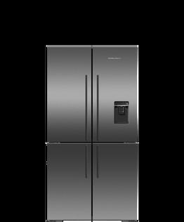 Freestanding Quad Door Refrigerator Freezer, 90.5cm, 538L, Ice & Water