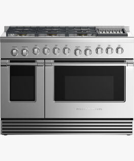 """Dual Fuel Range, 48"""", 6 Burners with Grill"""