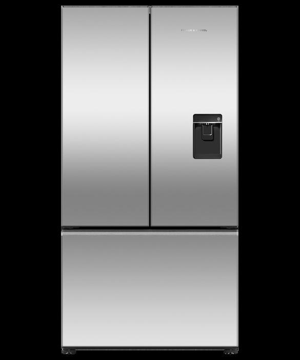 Freestanding French Door Refrigerator Freezer, 90cm, 614L, Ice & Water, pdp