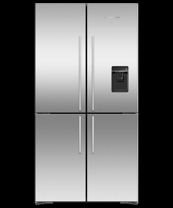"""Freestanding Quad Door Refrigerator Freezer, 36"""", 18.9 cu ft, Ice & Water, pdp"""