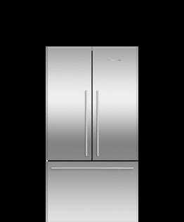 Freestanding French Door Refrigerator Freezer, 90cm, 569L, Ice