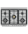 Freestanding Range Cooker, Dual Fuel, 90cm, 5 Burners, Self-cleaning gallery image 5.0