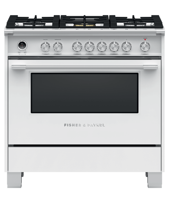 "Dual Fuel Range, 36"", 5 Burners, Self-cleaning, pdp"