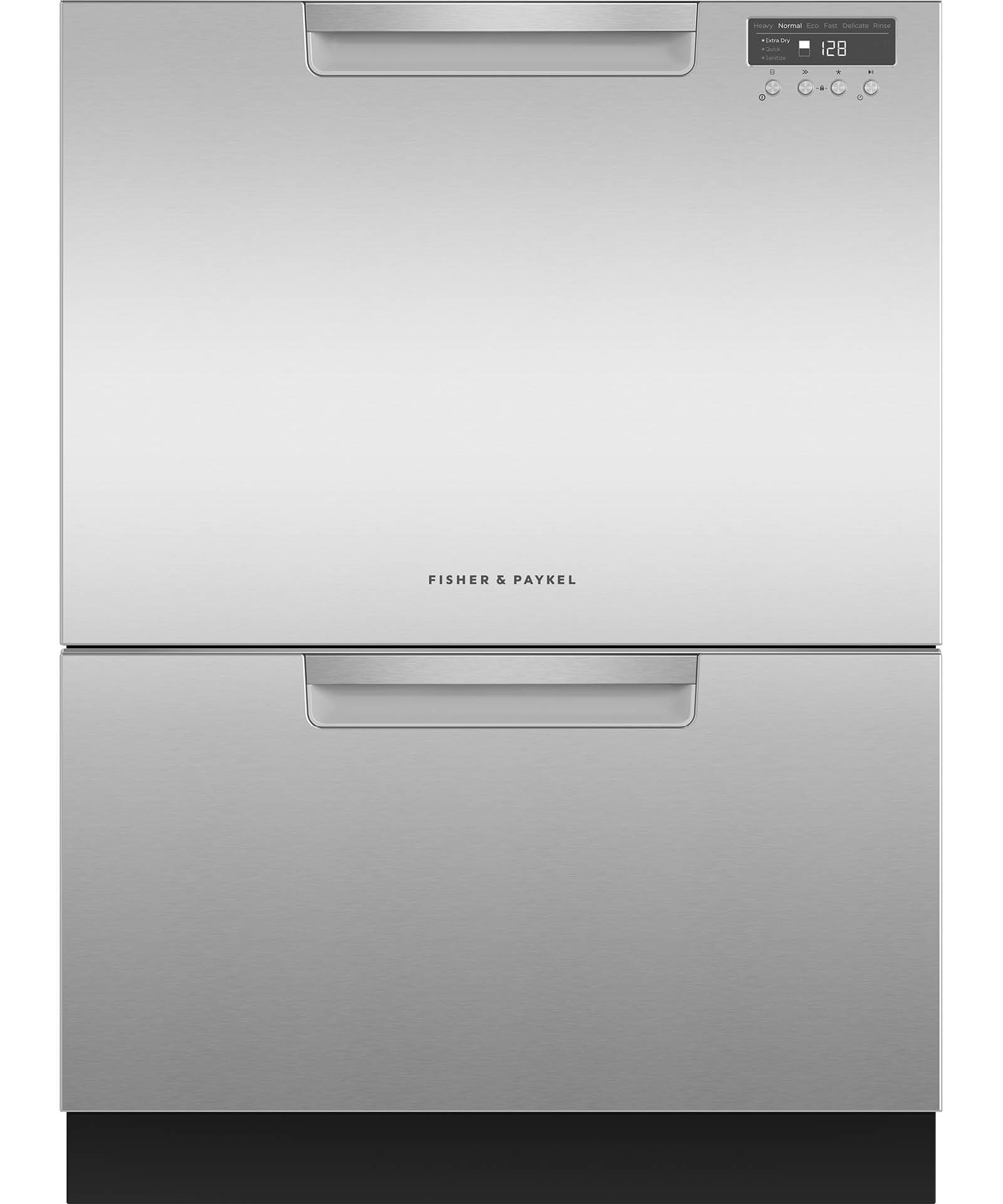 DD24DCHTX9_N   Tall Double DishDrawer™ Dishwasher Incl Sanitize, Extra Dry,  Full Flex Racking