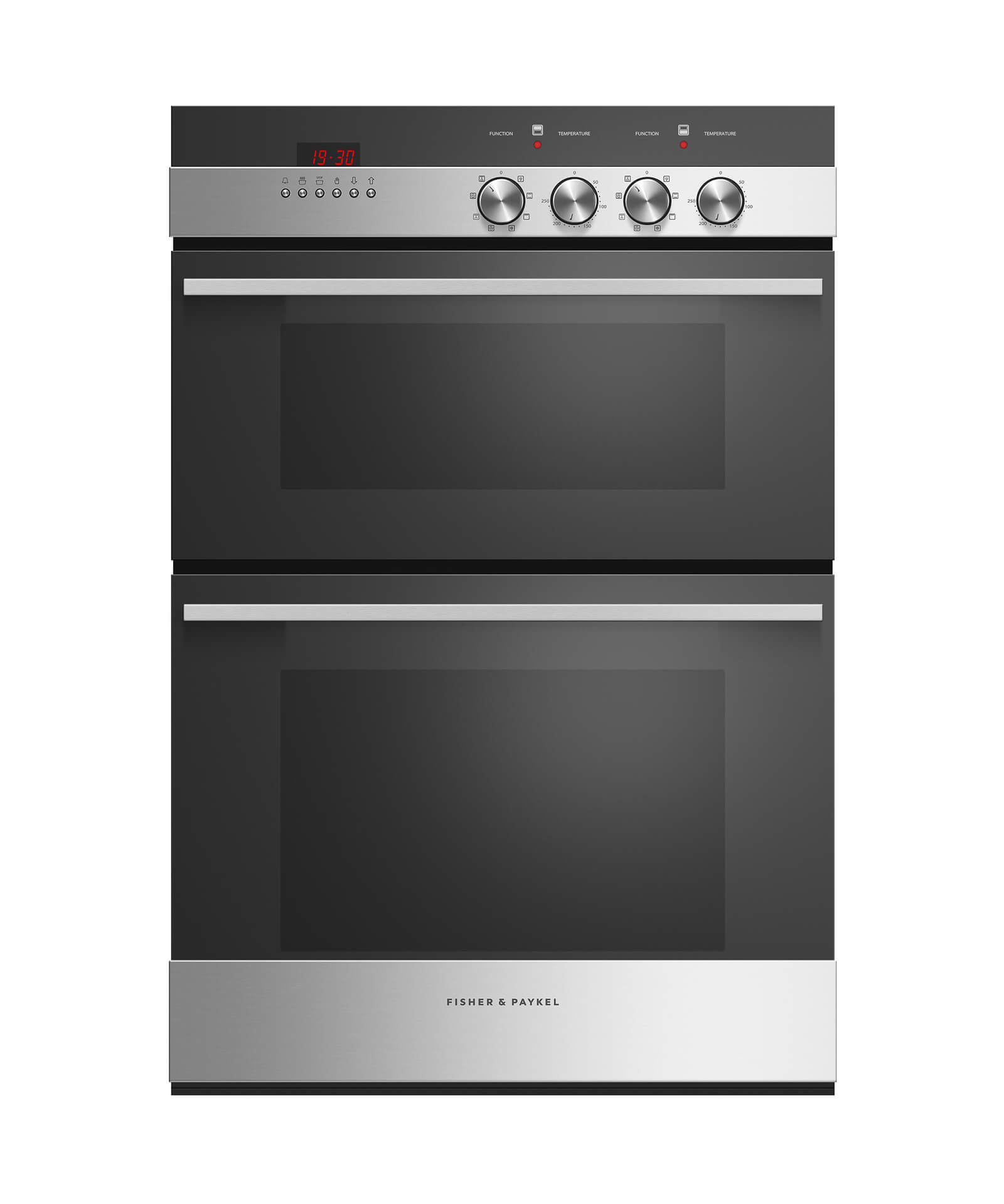 60cm Double 7 Function Built-in Oven, Stainless Steel, Fisher & Paykel Appliances