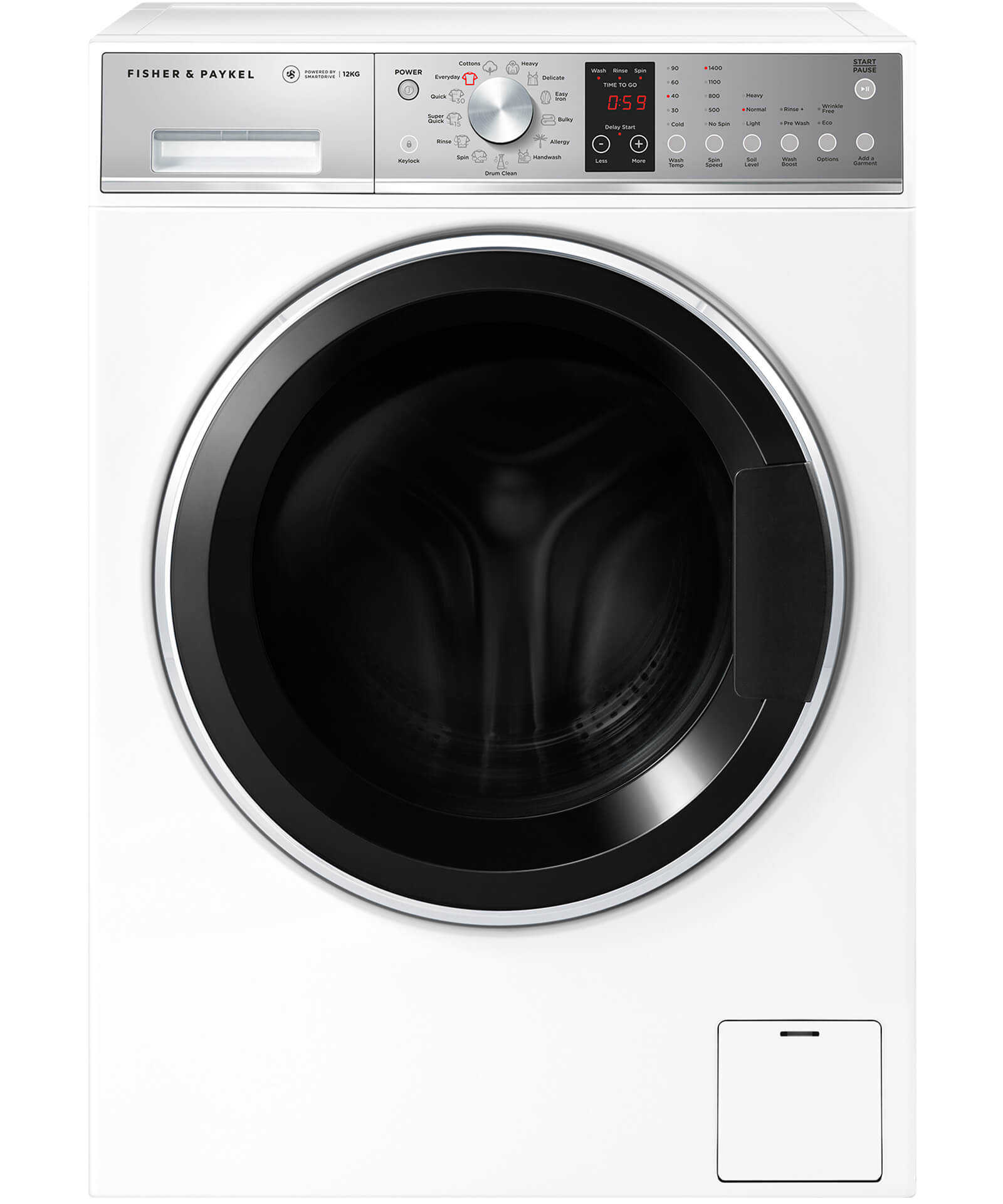 WH1260P1 - Front Loader Washing Machine, 12kg | Fisher ...