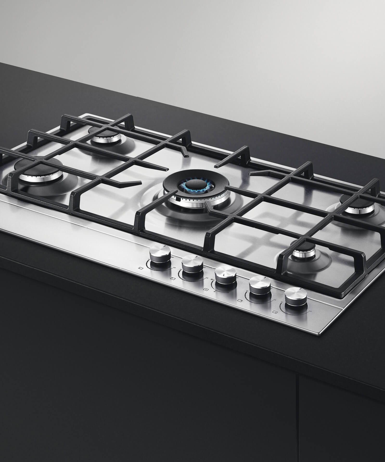 "5 Burner Gas Cooktops: Fisher & Paykel 36"" 5 Burner Gas Cooktop"