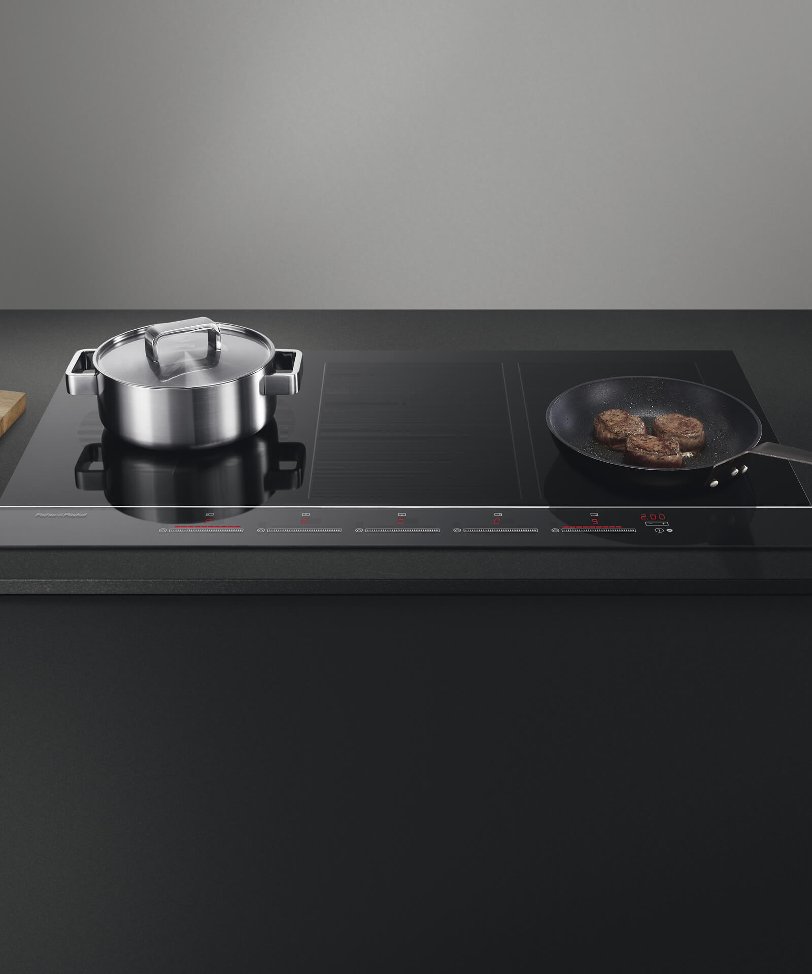 Ci905dtb3 90cm 5 zone touch slide induction hob for Induction cuisine
