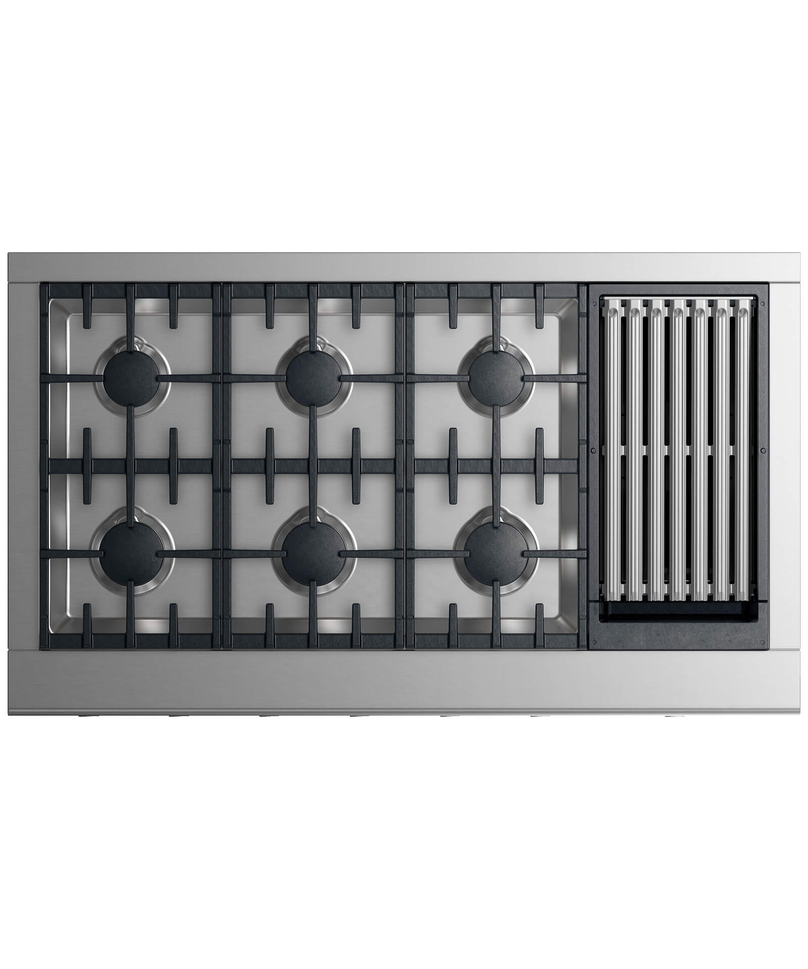 "CPV2-486GL-N_N - 48"" Professional Cooktop: 6 burners with grill - 71382"