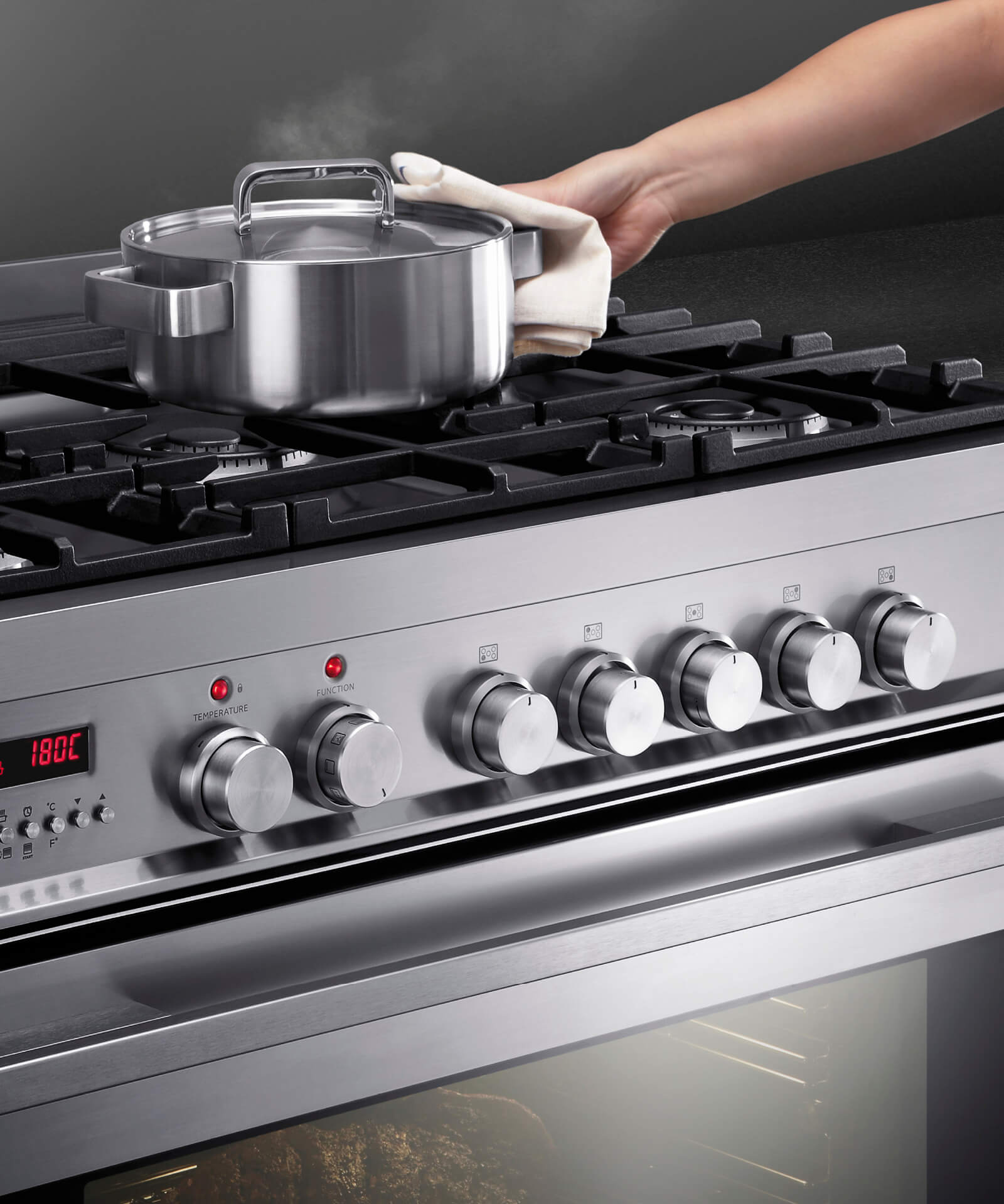Or90sdbgfpx1 90cm Pyrolytic Freestanding Dual Fuel Cooker