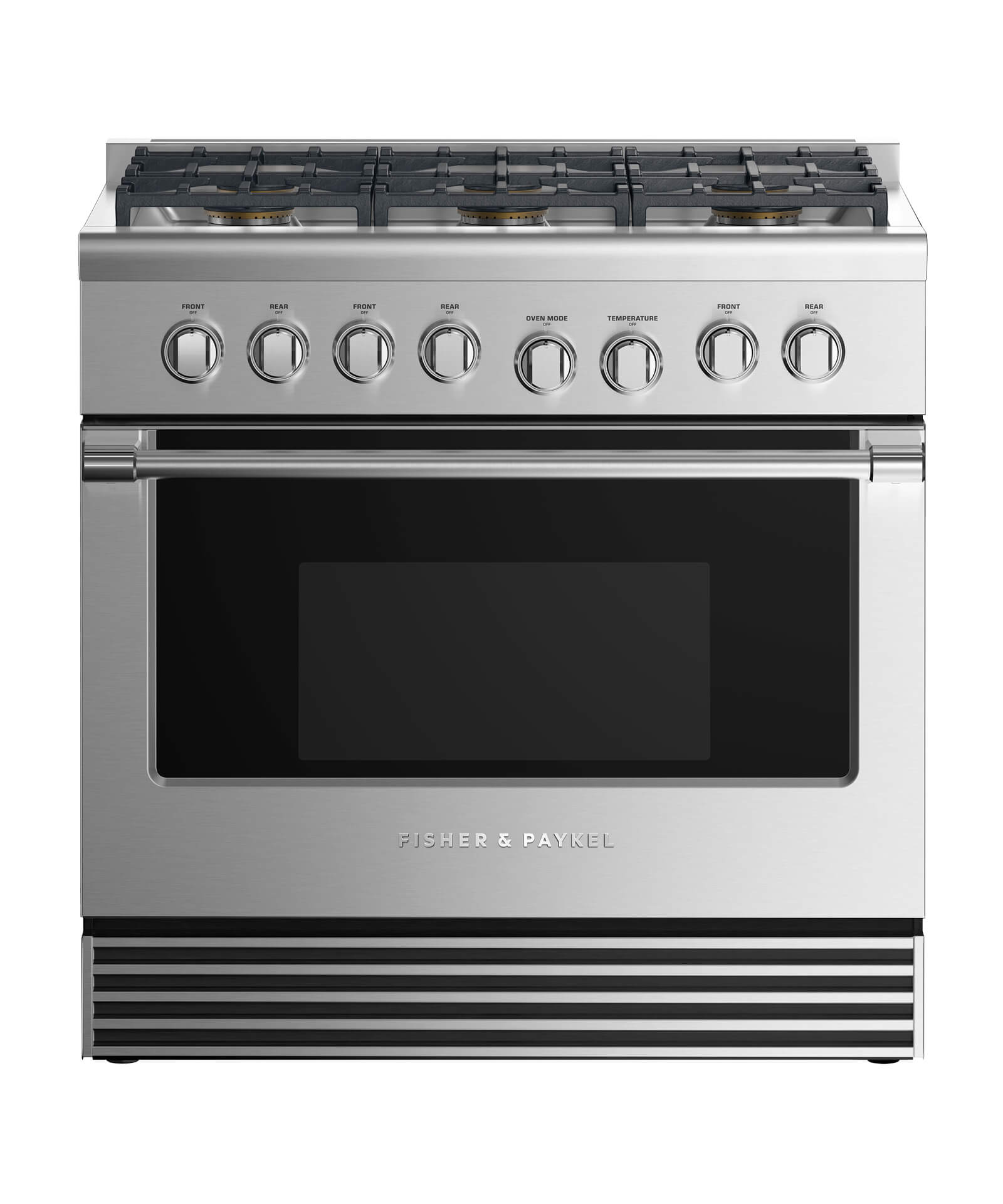 "Fisher and Paykel Dual Fuel Range 36"", 6 Burners"