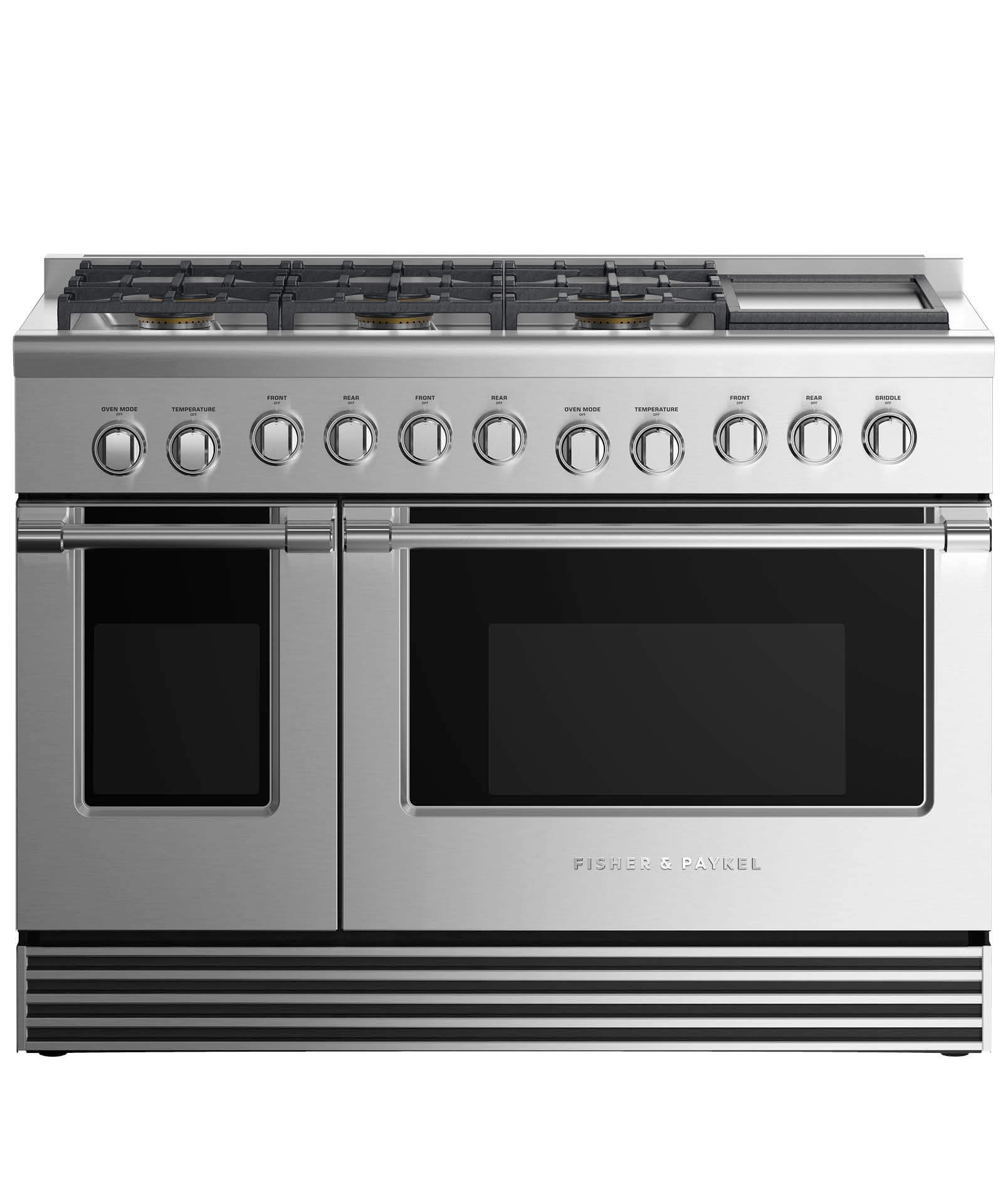 "Fisher and Paykel Gas Range 48"", 6 Burners with Griddle (LPG)"
