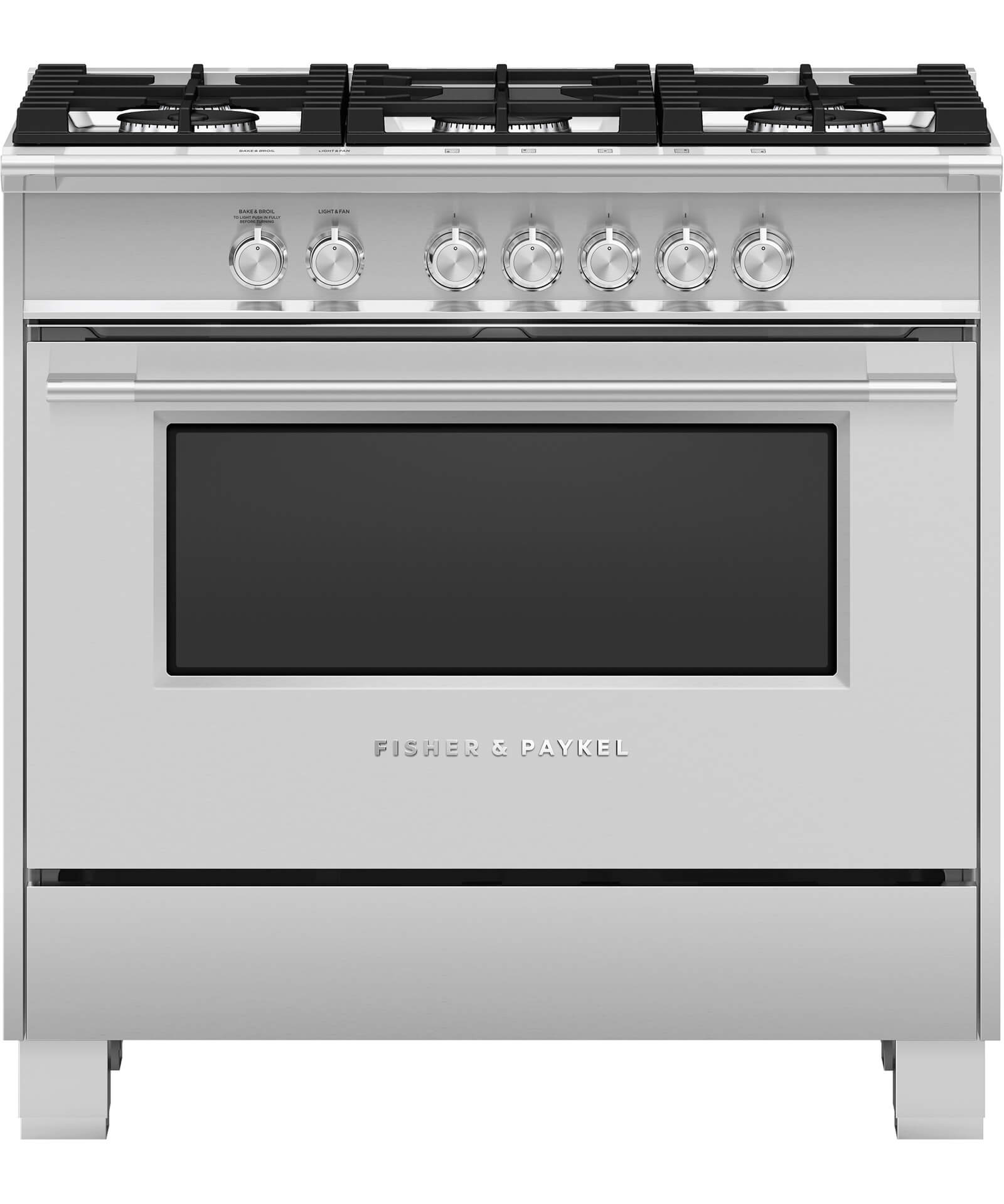 Or36scg4x1 Clic Freestanding Gas Range 36 Fisher